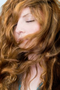 Change Your Hair Color - Women with eyes closed and dark blonde hair